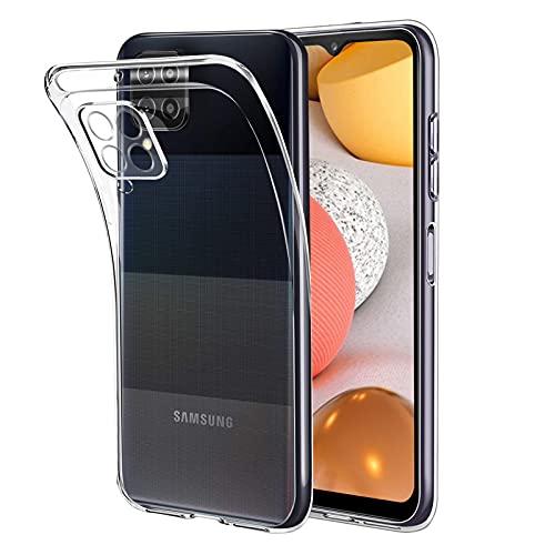 Eiselen Crystal Clear Hülle Kompatibel mit Samsung Galaxy A42 Hülle, Fallschutz, Stoßfest Handyhülle, Weiche Anti-Gelb Anti-Kratzer Transparent Dünn Silikon Schutzhülle für Samsung Galaxy A42