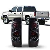 ZMAUTOPARTS Chevy Silverado/ GMC Sierra Pickup Tail Brake Lights Lamp Black/Smoke
