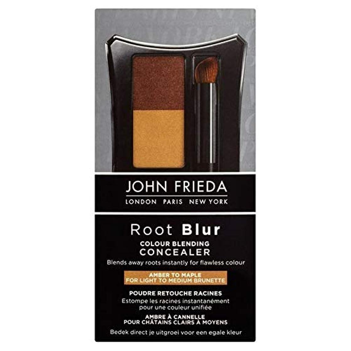 未知の宿るハイライト[John Frieda ] メープル90グラムにコンシーラー琥珀色をブレンドジョン?フリーダルートぼかし色 - John Frieda Root Blur Colour Blending Concealer Amber to Maple 90g [並行輸入品]