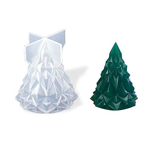 Sqxaldm Silicone per Albero di Natale Epossidico Natalizio Stampo Epossidico Cristallo Albero di Natale Stampo in Silicone Cristallo Natale Riutilizzabile Stampo in Silicone Fai Luce Albero di Natale