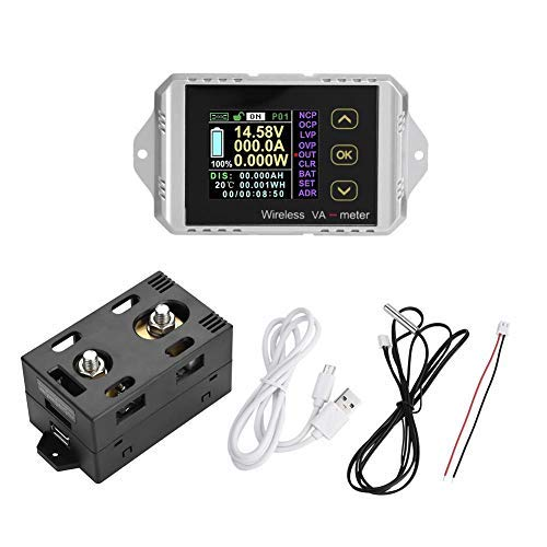 Best Price! DC Voltage Ammeter Power Meter Wireless DC Voltage Ammeter Power Meter Watt Meter Coulom...
