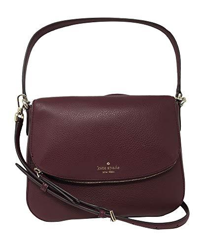 Kate Spade New York Jackson Soft Pebbled Leather Medium Flap Shoulder bag (Cherrywood)
