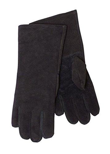 Stulpenhandschuh aus Wildleder, schwarz - Fechthandschuhe Ritterhandschuhe Mittelalter LARP Größe M
