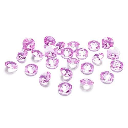Party Deco Packung mit 100 Tischdiamanten in Rosa