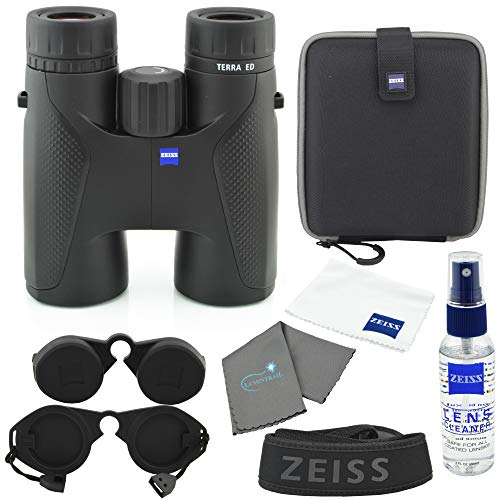 Zeiss 8x42 Terra ED Binocular Black Bundle with Zeiss Lens Care Kit and Lumtrail Cleaning Cloth