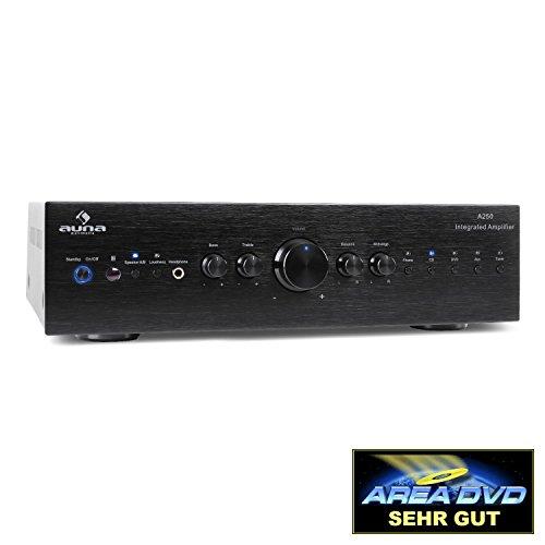AUNA AV2-CD708 - Home-cinéma Stéréo HiFi, Amplificateur Audio, 125 Watt RMS de Puissance, 5...