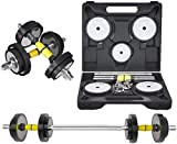 Mancuerna 2 en 1 Pure Steel Dumbbell Fitness Equipos de Fitness Pares de Inicio de 15 kg Barbell Set multifunción Dumbbell Home Gym Gimbell (Color: 15kg (7.5kg * 2))