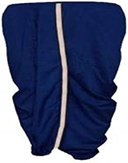 Indian Cultural Navy blue Stitched Dhoti with contrast thin border