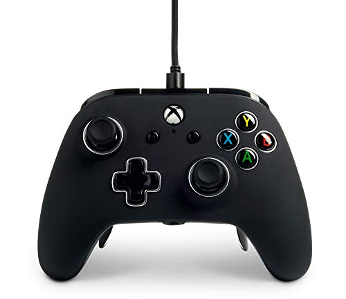 PowerA Fusion Pro Wired Controller for Xbox One - Black, gamepad, wired video game controller, gaming controller, Xbox One, works with Xbox Series X|S