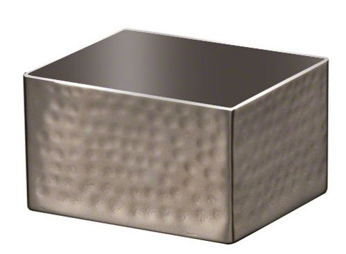 American Metalcraft HMSPH4 Hammered Stainless Steel Rectangle Sugar Packet Holder, 2.75' L x 3.25' W, Silver