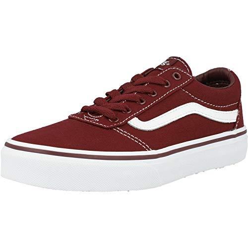 Vans Unisex Kinder Ward Canvas Sneaker, Rot (Leinwand) Port Royale / Weiß 8J7), 35 EU