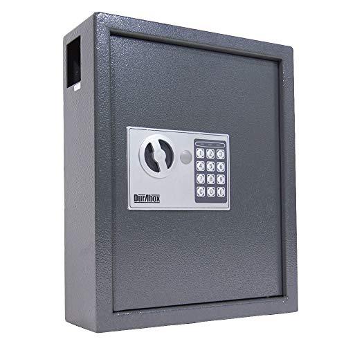 DuraBox 40 Keys Steel Safe Cabinet with Digital Lock - Electronic Key Safe with Drop Slot for Key Returns and Safe Storage (Dark Grey)