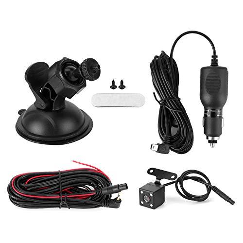 hong Cámara de salpicadero, práctica cámara de salpicadero de Doble Lente claramente Profesional, Doble Lente HD con Accesorio de Montaje para vehículo