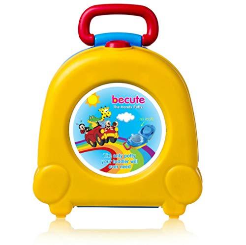 Vasino portatile da viaggio, per bambini, per imparare a usare il WC, per auto (giallo)