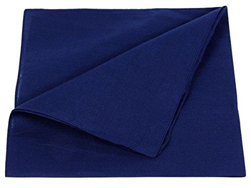 Alsino Bandana Zandana lisa, Pañuelo liso 100% algodón. azul marino Talla única