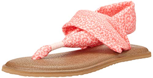 Sanuk Yoga Sling Burst Print - Sandalias para niña, Color Rosa, Talla 2-3 Little Kid