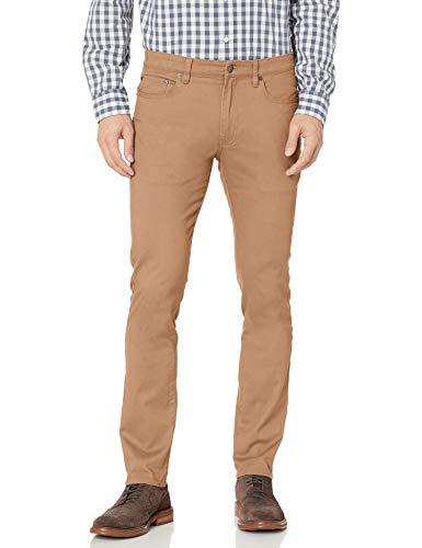 Amazon Essentials Skinny-fit 5-Pocket Stretch Twill Pant Pantalones informales, verde oscuro, 29W / 32L