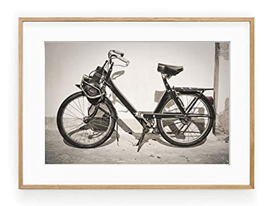 Solex Vintage Solid Oak Natural Frame with Mount, Multicolored, 30x40