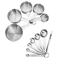 thursday april - set di 12 cucchiai dosatori e cucchiai da misurino in acciaio inox con righello di misurazione per cottura