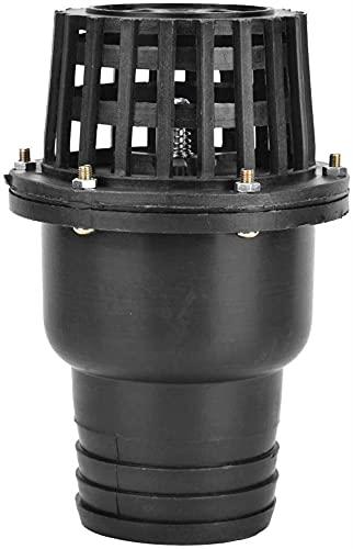 Waterpomp voetklep zwart PVC Lagedruk Savourless-terugslagklep voor soepele machine (3″) (Size : 1.5″)
