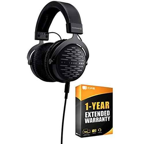 Beyerdynamic 710490 DT 1990 PRO 250 Ohm Open Studio Headphones Bundle with 1 Year Extended Warranty