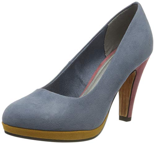 MARCO TOZZI Damen 2-2-22441-34 Pumps, Blau (Denim Multi 877), 38 EU