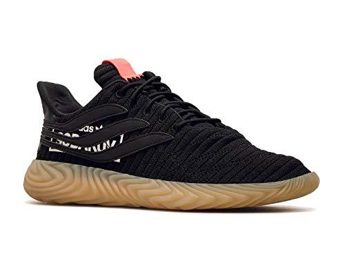 adidas Sobakov, Zapatillas de Deporte para Hombre, Negro (Negbás/Negbás/Rojdes 000), 40 EU