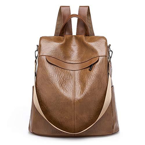 Koreanische Mode Leinwand Weiche Leinwand Damen Rucksäcke Lässige Schulmädchen Taschen Reise Umhängetasche Große Kapazität - Braun - 1Größe(BCVBFGCXVB)