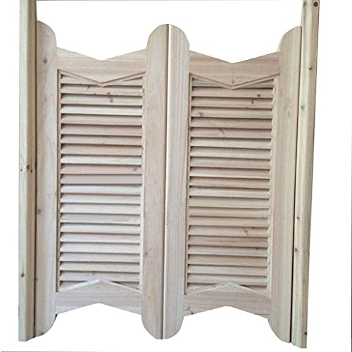 Interior Doors Swinging Doors Cafe Doors Cafe Doors Louvered Western Swinging Style Wood Bar Door, Saloon Swing Swinging Door, Customizable Size, Fits Any 75-100 cm Door Opening Sizes Home Accessories
