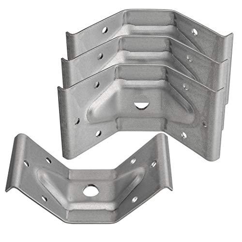 SO-TECH 4 x SO-TECH Herraje para Pata de Mesa de Acero Galvanizado 60 x 100 mm para Construcciones Robustas Conector de 🔥