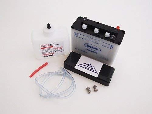 Batterie 6V 4, 5 Ah Sotex (mit Deckel) f. Simson KR51 (inkl. Säurepaket)