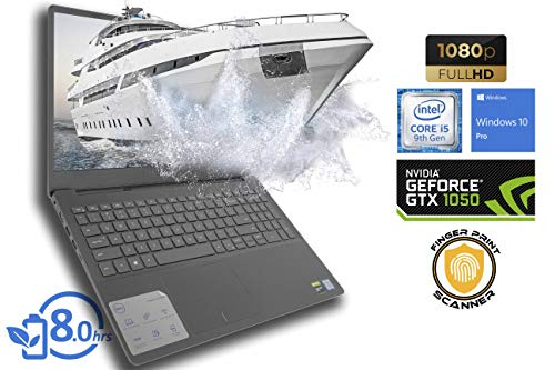 Dell Inspiron 7590 Gaming Laptop, 15.6' FHD Display, Intel Core i5-9300H Upto 4.1GHz, 32GB RAM, 1TB NVMe SSD, NVIDIA GeForce GTX 1050, HDMI, Thunderbolt, Card Reader, Wi-Fi, Bluetooth, Windows 10 Pro
