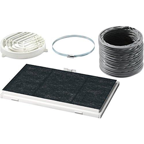 Bosch DSZ4545 Zubehör für Dunstabzüge / Standard Umluftset / für Umluftbetrieb / Aktivkohlefilter / Umlenkweiche / Flex-Schlauch / Schlauchklemmen / Befestigungsmaterial