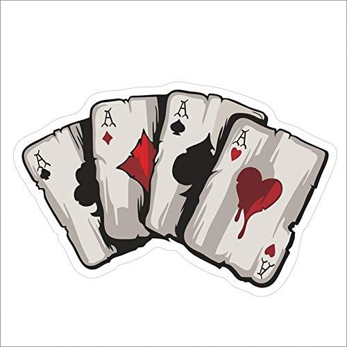 CTMNB Pegatina de Coche Jugando a Las Cartas Poker Monster Hat Vinilo Pegatina para Coche