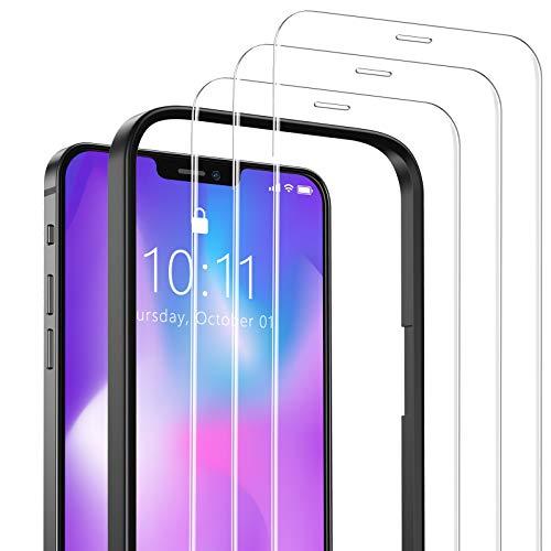 SAEYON [3 Pezzi Pellicola Protettiva in Vetro Temperato per Apple iPhone 12 Mini, Schermo Protettivo per 5,4 Pollici Apple iPhone 12 Mini con Kit di Installation, Transparent (5,4'')