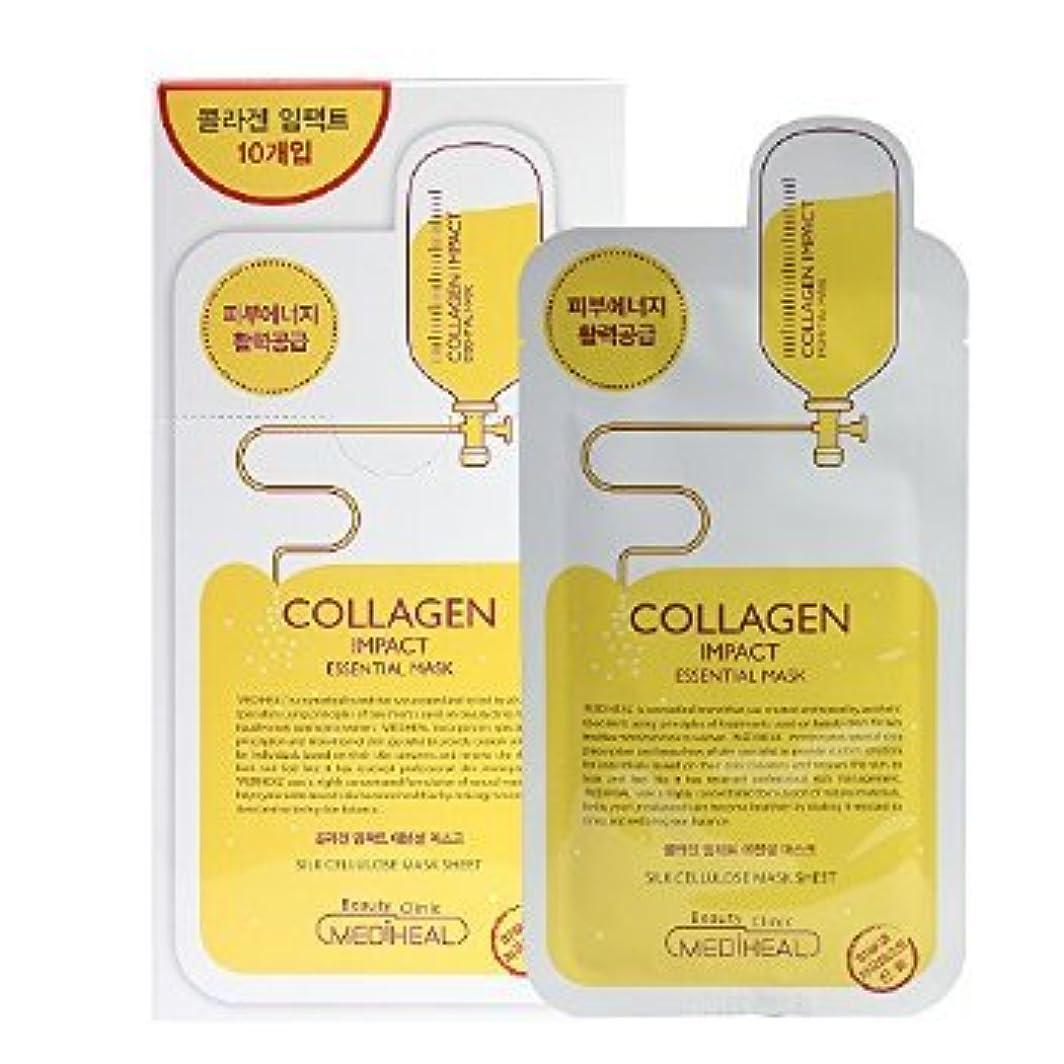 クロール成果悪因子Korea Mediheal Collagen Impact Essential Mask Pack 1box 10sheet