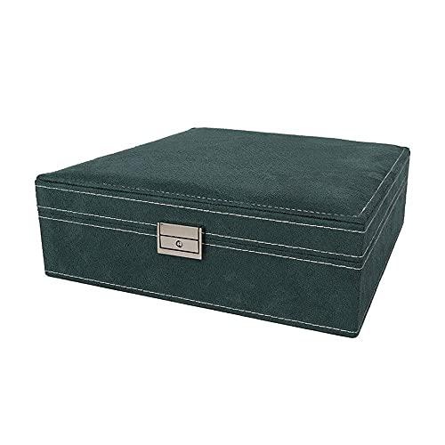 WEM Novedad Candelabro decorativo, multifunción, vintage, hecho a mano, caja de almacenamiento de tela, joyería antigua, pendientes, collar, caja de almacenamiento, vida, caja de almacenamiento de gr