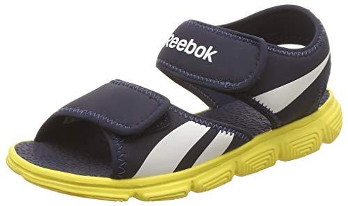 Reebok Wave Glider, Zapatillas de Deporte Niños, Azul/Amarillo/Blanco (Collegiate Navy/Yellow Spark/Wht), 30 1/2