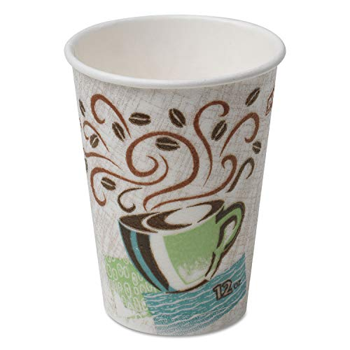 Dixie PerfecTouch 12 oz. Insulated Paper Hot Coffee Cup by GP PRO (Georgia-Pacific), Coffee Haze, 5342CDSBP, 160 Cups Per Case, Coffee Haze Design
