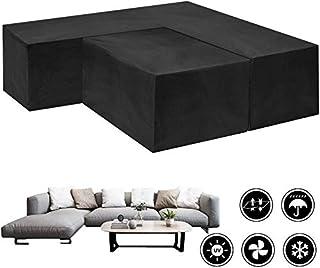 D&D Waterproof Outdoor Furniture Cover Set, 2PCs V-Shape and Rectangular Patio Furniture Corner Sofa Cover, Dustproof Wind...