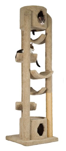 Molly and Friends 'Pinnacle Extra-Large Premium Handmade Cat Tree with Sisal, Beige