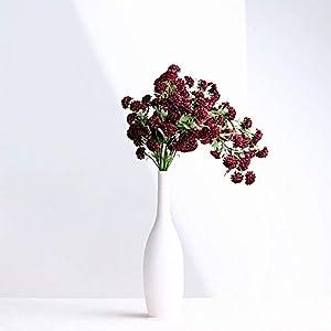 BalsaCircle 2 Burgundy 33-Inch Tall Chrysanthemum Mums Bushes Silk Artificial Flowers Wedding Party Events Reception Decorations Supplies