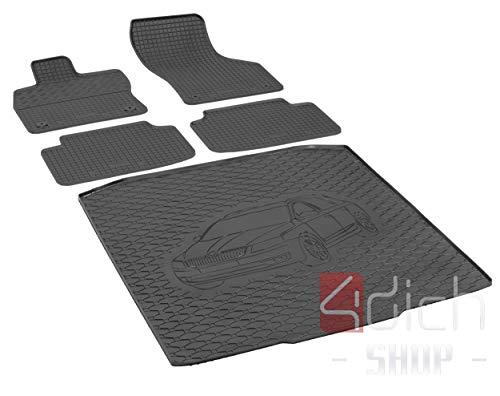 Passgenaue Kofferraumwanne und Gummifußmatten geeignet für Skoda Octavia III Kombi ab 2013 + Autoschoner MONTEUR