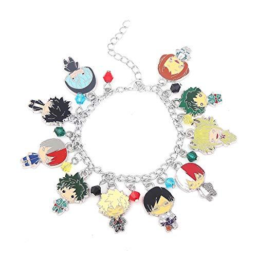 Pulsera Haikyuu My hero ac-ademia Izuku Midoriya Jewelry Pulsera Cadena Katsuki Bakugō Novedad Pulseras con dijes Personajes de anime Pulsera colgante Moda Anime Manga Series Pulsera para Regalos