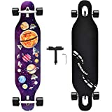 NOBONDO 41 Inch Longboard Skateboard - Canadian Maple Complete Long Board Skateboard Cruiser for Cruising, Carving, Free-Style and Downhill