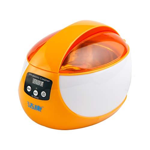 JUJHEF Ultraschallreinigungsmaschine 50W Gläserschmucksachen Gebissreiniger Digital-Timer orange Rosa (Farbe : Orange)