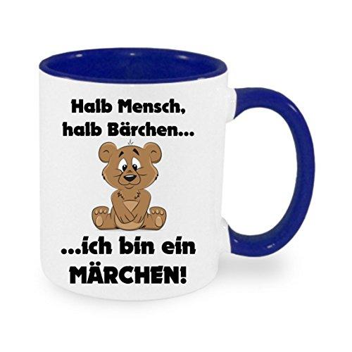 Creativ Deluxe Halb Mensch halb Bärchen - ich Bin EIN Märchen - Kaffeetasse mit Motiv, Bedruckte Tasse mit Sprüchen oder Bildern