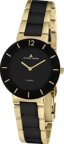 Jacques Lemans Reloj Análogo clásico para Mujer de Cuarzo con Correa en Cuero 42-3E