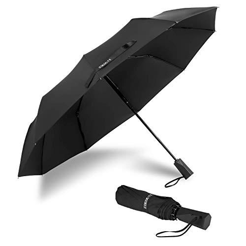 Speedsporting Regenschirm Taschenschirm Auf-Zu Automatik Schirm mit 10 Edelstahl Rippen, Sturmfest Windtest bis 150 km/h, Kompakt Stabil Winddicht Teflon-Beschichtung Regenschirm Schirm