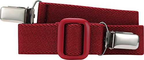 Playshoes Unisex - Kinder Gürtel 601200 Elastischer Kindergürtel mit Clips Uni, passend bei Größe 116-140, Gr. one size, Rot (rot)